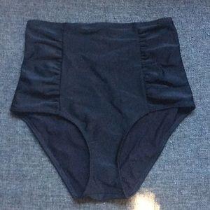 Aerie black high waisted swim bottoms